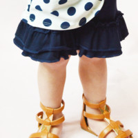 lil' belle toddler ruffled shorts - navy