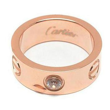 """Cartier"" Trending Women Men Simple Diamond Ring Lovers Lovely Rings Rhinestone Ring I"