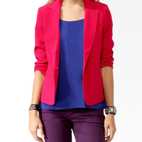 Bold Notched Lapel Blazer