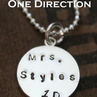 Mrs. Styles Necklace One Direction Pendant 1D Harry