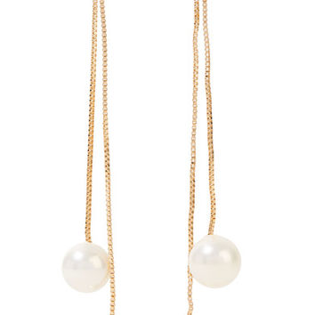 Kenneth Jay Lane - Gold-plated faux pearl earrings