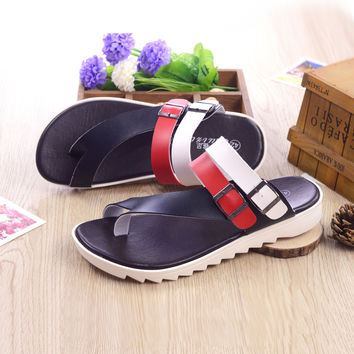 Stylish Design Summer Slippers Men Fashion Korean Anti-skid Sandals [10209439244]