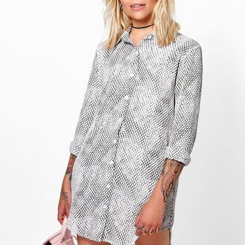 Lorna Snake Print Shirt Dress