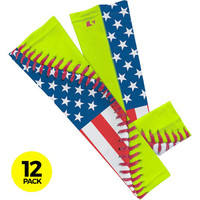 12 Softball USA Lace Arm Sleeves  (XL not Available)