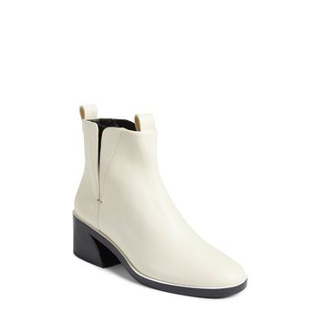 Mercedes Castillo Women's Ivory-Black Xandra Chelsea Ankle Booties