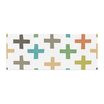 "Daisy Beatrice ""Hipster Crosses"" Multicolor Bed Runner"