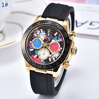 Rolex Fashion New multicolor dial couple watch wristwatch 1#