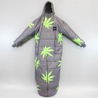 Huf Plantlife Sleeping Bag Grey Lime