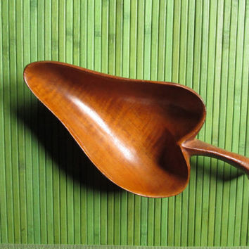 Danish modern decor - vintage wood dish - candy dish - nut dish - mid century - Mad Men era