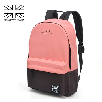 Fashion School Backpack Women Children Schools Back Pack Leisure Korean Ladies Knapsack Laptop Travel Bags for Teenage Girls