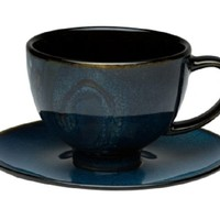 Vanilla Organic Blue Tea Cup/Saucer Set 8oz [HLG200-213] - $7.95 : Red Vanilla - Housewares with Flavour