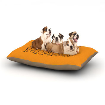 "KESS Original ""Happy Halloween - Orange"" Dog Bed"