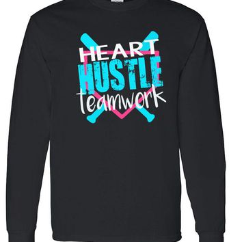 Heart Hustle Teamwork Softball - Long Sleeve Shirt