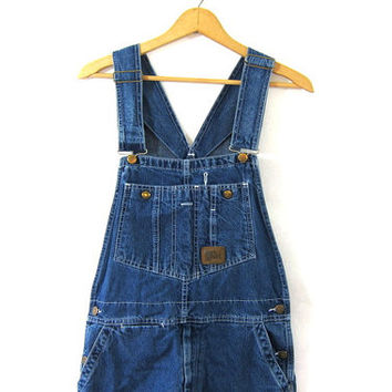 20% OFF SALE. Vintage Jean Bib Overalls. Work Sport Carpenter Engineer Work Pants. 32 x 34