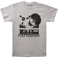 Foo Fighters Men's  Reel To Reel Slim Fit T-shirt Silver