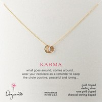 Dogeared Tiny Sparkle Karma Mixed Metal Necklace, 18""