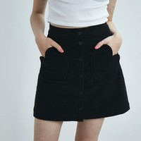 Lazy Oaf Black Heart Pocket Cord Skirt - Everything - Categories - Womens
