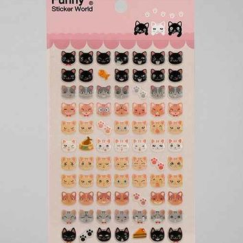 Meow Gel Sticker Sheet- Black One