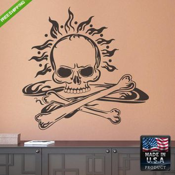 Wall Decals Art Decor Kids Decal Decal Sticker Cute Skull Bedroom  z200