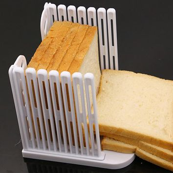 Bread Slicer Cutting Guide Tools Plastic Splicing Toast Loaf Cutter Rack Slicing Kitchen Accessories Tool E2S