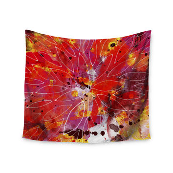 "Li Zamperini ""Flame"" Red Yellow Wall Tapestry"