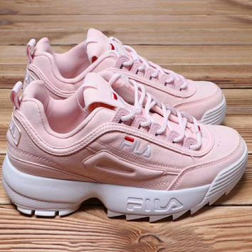 Fila Running Sport Casual Shoes Sneakers Pink G Xyxy Ftq
