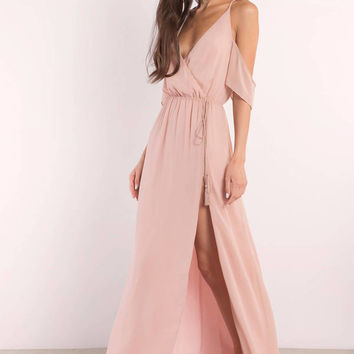 Rhythm Cold Shoulder Maxi Dress