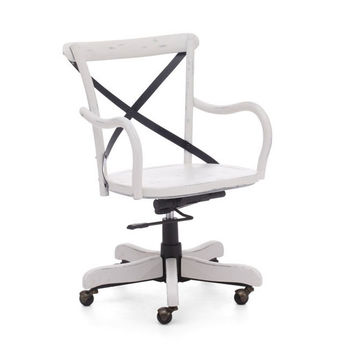 Cafe Desk Chair in Antique White