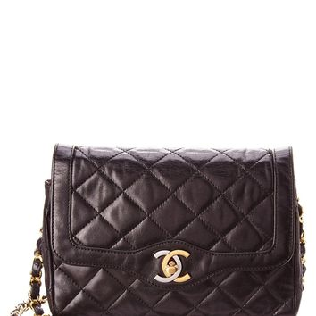 Chanel Chanel Black Lambskin Limited Edition Paris Flap Bag | Bluefly.Com