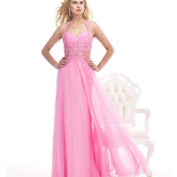 Beaded Embroidery Pink Gown