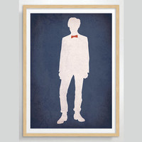 Doctor Who Eleventh Doctor Matt Smith Poster -  Minimalist Print, Digital Art Print, TV Poster