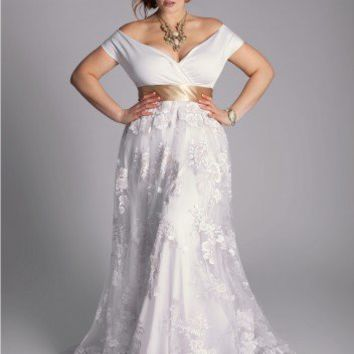Plus Size Eugenia Vintage Wedding Gown from igigi.com | Wedding