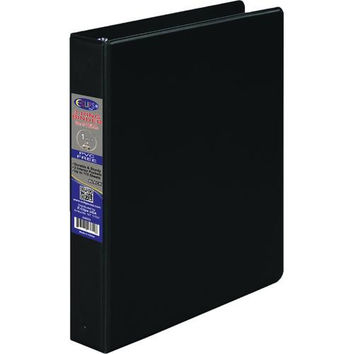 1 Inch 3 Ring Vinyl Binder - Black