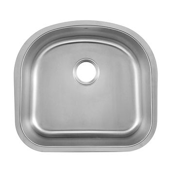 DAX-2321 / DAX SINGLE BOWL UNDERMOUNT KITCHEN SINK, 18 GAUGE STAINLESS STEEL, BRUSHED FINISH