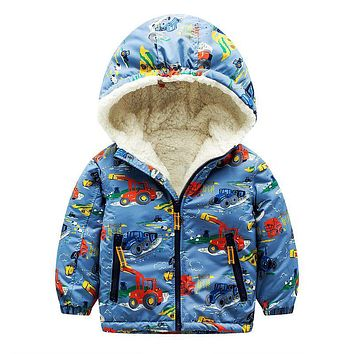 Baby Boys Jackets Kids Winter Down Jackets for Boys Clothes Hooded Pattern Children Outerwear Girls Parka Coat