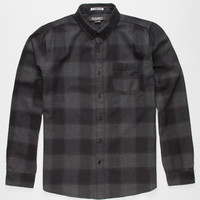 Ezekiel Reefer Mens Flannel Shirt Black  In Sizes