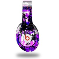 Purple Graffiti Decal Style Skin (fits ORIGINAL Beats Studio Headphones - HEADPHONES NOT INCLUDED)