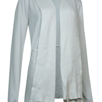 Karen Scott Women's Open Front Draped Long Sleeve Cardigan