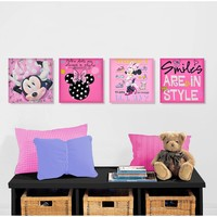 Disney Mickey Mouse & Friends Minnie Mouse 4-pk. Wall Art