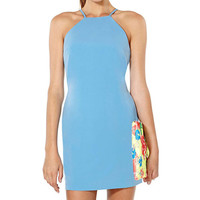 Blue Strappy Bodycon Mini Dress