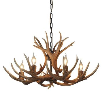 Antlers vintage Style Resin 6 light chandeliers 8688-6,Diameter 88CM Height 54CM antler chandeliers, from QIRUI Lighting