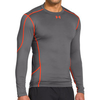 Under Armour® Graphite & Volcano ColdGear® Evo Compression Hybrid Mock Tee | zulily