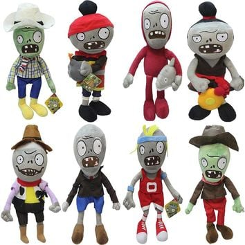 Plants VS Zombies Gargantuar Zombie PVZ Plush Toys Soft Stuffed Dolls Cosplay Toy Doll for Kids Children Gifts Collection 30CM