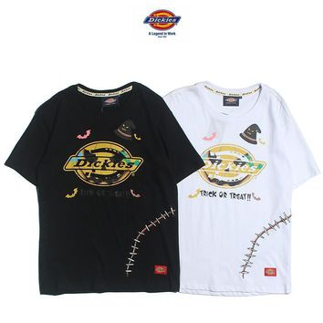 Dickies Lover Couple Casual Fashion Print Tunic Shirt Top Blouse