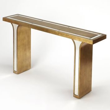 Butler Katya Silver Leaf Console Table
