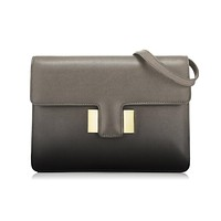 Tom Ford Large Patent Grey Leather Shaded Calf Sienna Shoulder Bag L0871T