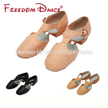 2017 Best Selling Pig Leather Teachers Dancing Sandal Jazz Dance Shoes For Girls And Women Sport Sneakers Free Shipping