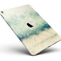 """Teal and Gold Unfocused Orbs of Light Full Body Skin for the iPad Pro (12.9"""" or 9.7"""" available)"""