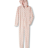 Bunny Hooded Women's One-Piece Footie Pajamas