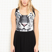 Vintage Renewal White Tiger Dress at Urban Outfitters